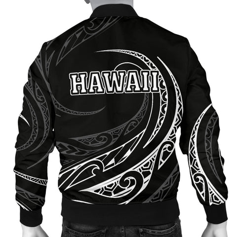 Image of Kanaka Polynesian Men's Bomber Jacket - White - Frida Style - AH J9