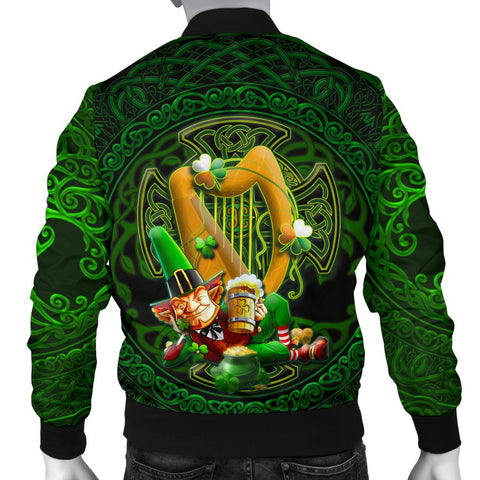 Irish Leprechaun Men's Bomber Jacket - Ireland's Trickster Fairies - BN21