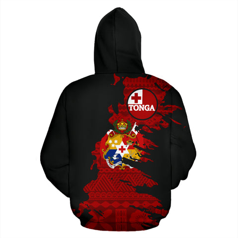 Tonga Hoodie Painting Tapa Zip Up
