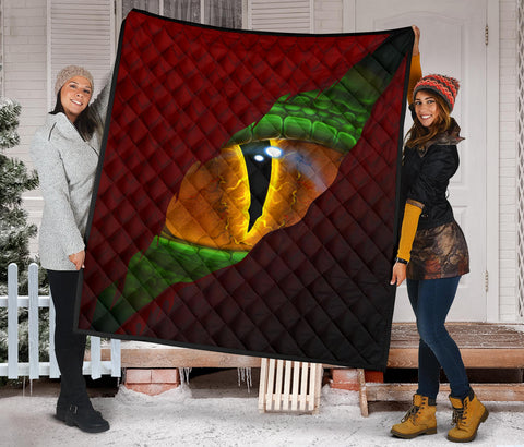 Welsh Premium Quilt - Dragon Eyes A02
