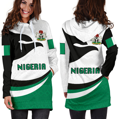 Nigeria Women Hoodie Dress Proud Version K4