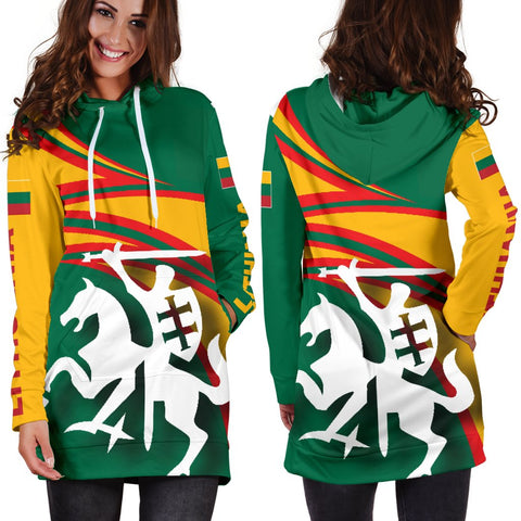 Image of Lithuania Hoodie Dresses N Flag A15