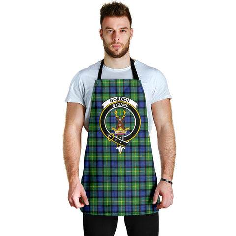 Image of Gordon Old Ancient Tartan Clan Crest Apron HJ4