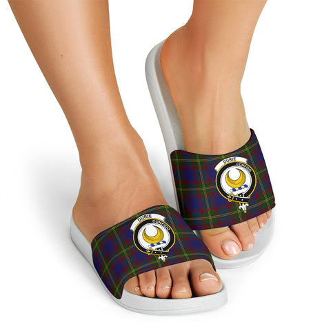 Image of Tartan Slide Sandals - Durie Clans - White Version