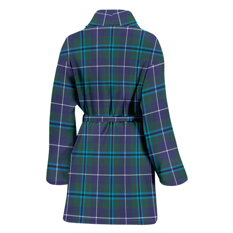 Douglas Modern Bathrobe - Women Tartan Plaid Bathrobe Universal Fit