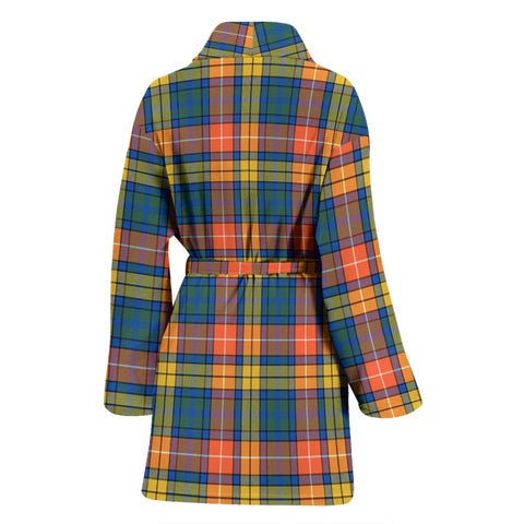 Buchanan Ancient Bathrobe - Women Tartan Plaid Bathrobe Universal Fit