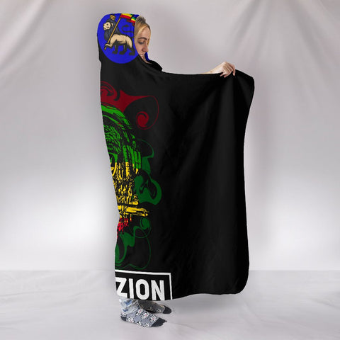1sttheworld Ethiopia Hooded Blankets - Ethiopia Coat of Arms With Lion Reggae - BN17