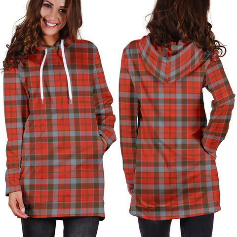 Robertson Weathered Tartan Hoodie Dress HJ4 |Women's Clothing| 1sttheworld