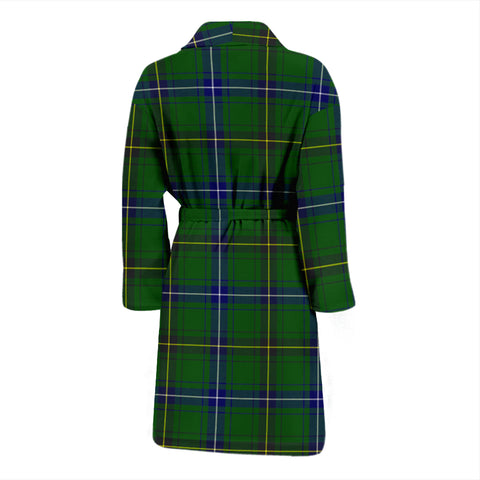 Henderson Modern Bathrobe - Men Tartan Plaid Bathrobe Universal Fit
