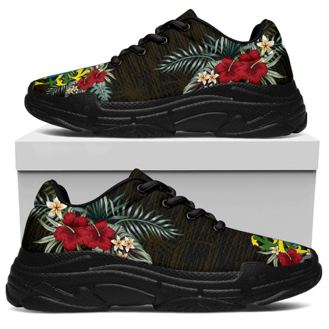 Pitcairn Islands Hibiscus (Men/Women) Chunky Sneakers A7