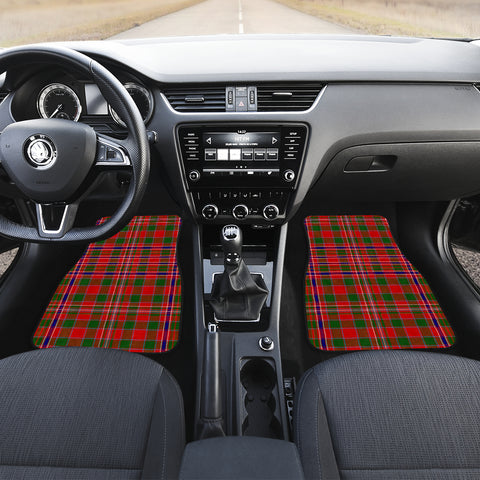 Macalister Modern Tartan Car Floor Mat 4 Pieces K7