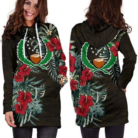 Image of Pohnpei Hibiscus Hoodie Dress A7