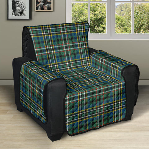 SCOTT GREEN ANCIENT Tartan Recliner Sofa Protector A9 copy