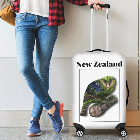 New Zealand Kea Parrot Luggage Cover - new zealand birds, new zealand kea parrot, luggage cover, suitcase covers, accessories, online shopping