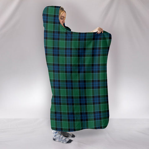 Image of Graham of Menteith Ancient, hooded blanket, tartan hooded blanket, Scots Tartan, Merry Christmas, cyber Monday, xmas, snow hooded blanket, Scotland tartan, woven blanket