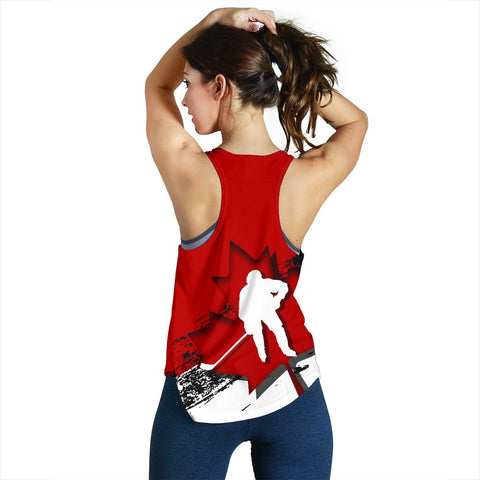 Canada Racerback Tank - Maple Leaf Hockey (Women) A02