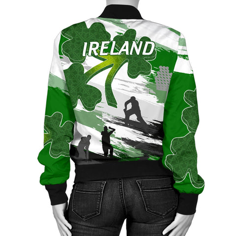 Image of Ireland Cricket Special Women's Bomber Jacket A7