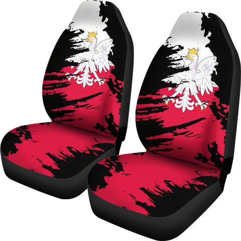 Poland Painting Car Seat Cover