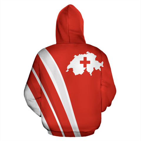 Switzerland Hoodie K5 Red by 1sttheworld for Men and Women
