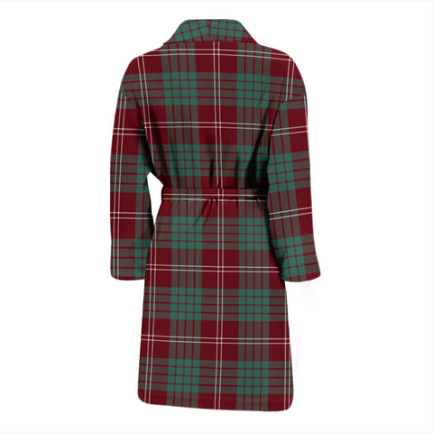 Crawford Modern Bathrobe - Men Tartan Plaid Bathrobe Universal Fit