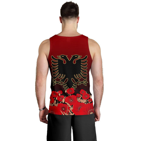Albania Flag Double Eagle Hand Men's Tank Top A15
