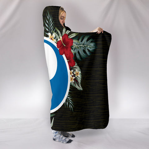 Yap Hibiscus Hooded Blanket A7