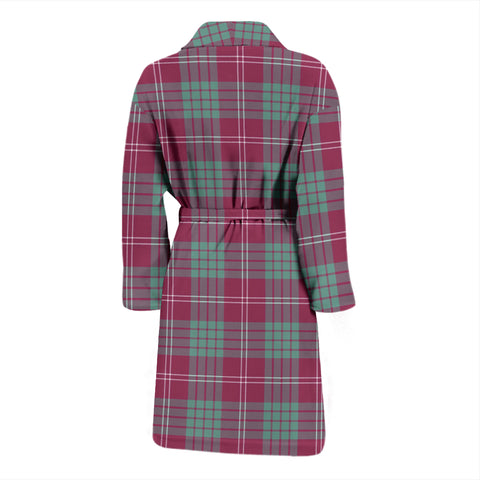 Crawford Ancient Bathrobe - Men Tartan Plaid Bathrobe Universal Fit