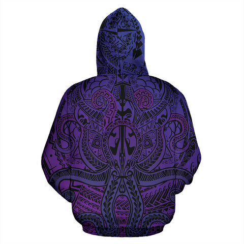 Polynesian Hoodie Octopus Tattoo TH5