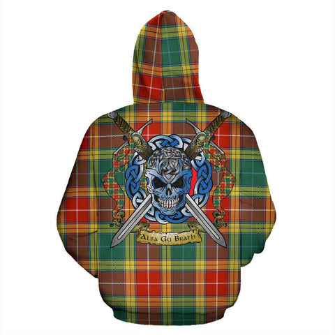 Image of Buchanan Old Sett Tartan Hoodie Celtic Scottish Warrior A79 | Over 500 Tartans | Clothing | Apaprel