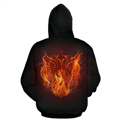 Image of Albania All Over Hoodie - Fire Style - BN09