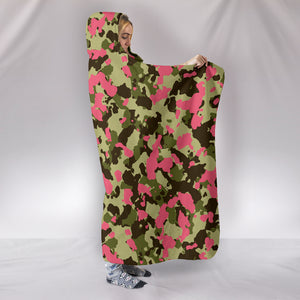 Camo Hooded Blanket - Pink Version - BN07