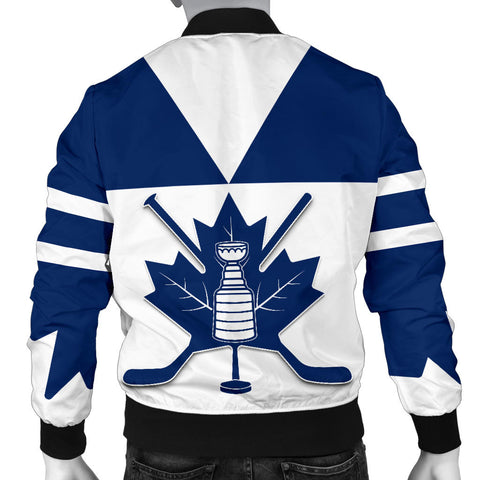 Image of Canada Hockey Maple Leaf Champion Men Bomber Jacket back | Clothing | Toronto Maple Leafs