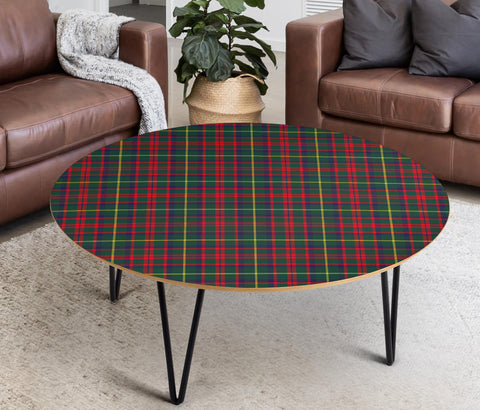MacKintosh Hunting Modern Tartan Circular Coffee Table - BN