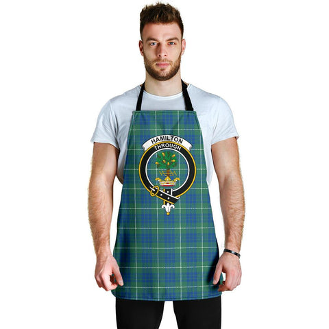 Image of Hamilton Hunting Ancient Tartan Clan Crest Apron HJ4