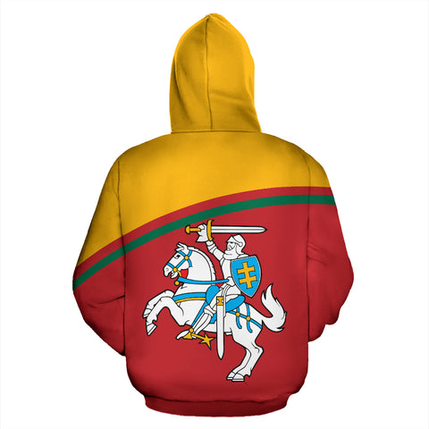 Lithuania All Over Hoodie - Curve Version - BN01