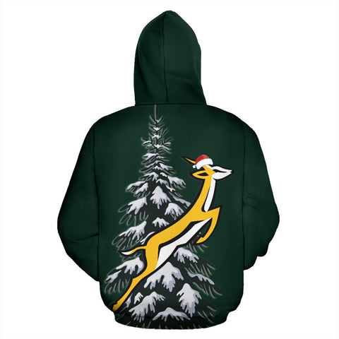 Image of Springboks Christmas Hoodie - Fir Tree TH5