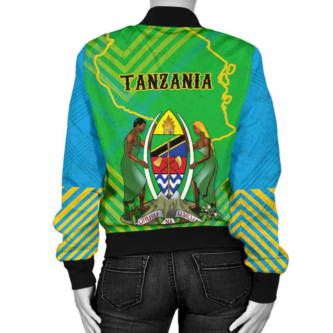 Tanzania Mix Women Bomber Jacket K5