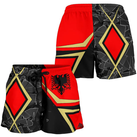 Albania All Over Print Women's Shorts- Albanian Legend