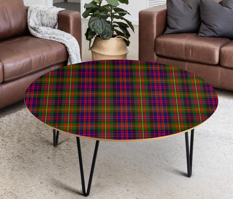 Carnegie Modern Tartan Circular Coffee Table