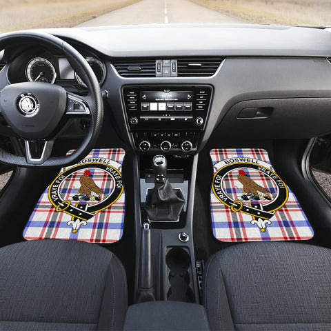 Boswell Modern  Tartan Clan Badge Car Floor Mat 4 Pieces K7