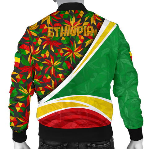 Image of 1stTheWorld Ethiopia Bomber Jacket, Ethiopia Lion Of Judah Flag Rasta A10