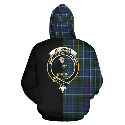 Image of MacInnes Modern Tartan Hoodie Half Of Me TH8