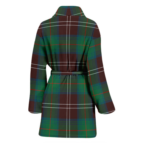 Chisholm Hunting Ancient Bathrobe - Women Tartan Plaid Bathrobe Universal Fit