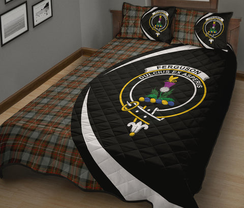 Tartan Quilt Bed Set Circle