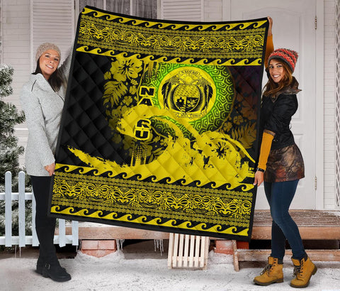 Nauru Quilt Wave Yellow Design K62