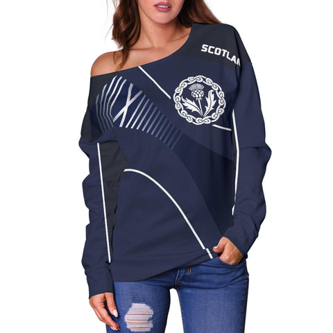 Scotland Women's Off Shoulder Sweater - Increase Version