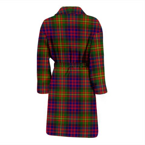 Image of Carnegie Modern Bathrobe - Men Tartan Plaid Bathrobe Universal Fit