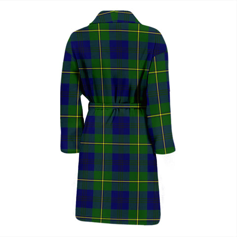 Johnston Modern Bathrobe - Men Tartan Plaid Bathrobe Universal Fit