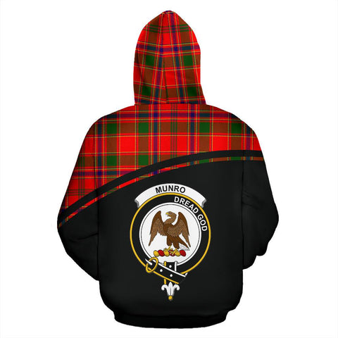 Image of Munro Tartan Custom Personalised Hoodie - Curve Style Back