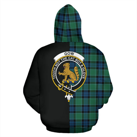 Graham of Menteith Ancient Tartan Hoodie Half Of Me TH8
